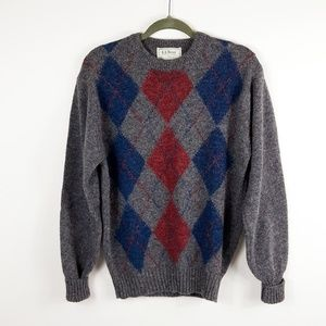 LL Bean Vintage Argyle Sweater From Ireland